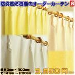 カーテン オーダーカーテン 遮光 防炎 形状記憶 幅60cm 70cm 80cm 90cm 100cm 丈145cmから丈200cm 1枚 風通組織