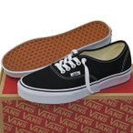 ショッピング即納 VANS ( バンズ ヴァンズ ) Classic Authentic Black ( 22.5-30cm ) ( オーセンティック キャンパス USA企画 クラシック シューズ スニーカー 靴 メンズ レディ
