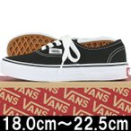 キッズ シューズ VANS バンズ Kids Classic Authentic Black/True White ヴァンズ オーセンティック スニーカー 靴 子供