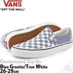 バンズ スリッポン Vans Checkerboard Classic Slip On Blue/White スケボー スケートボード チェッカーボード チェック ストリート 靴 ブランド US企画