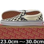 靴 シューズ スニーカー メンズ  VANS バンズ ヴァンズ Classic Slip On Blk/Wht/Checkerboard/Wht クラシック スリッポン USA企画