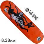 スケボーデッキ 8.38 インチ ウェルカム スケートボード Welcome Skateboard THE MAGICIAN ON SON OF PLANCHETTE ORANGE inch 人気 ブランド
