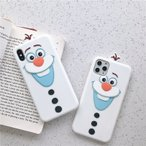 Yahoo!キュートハウスアナと雪の女王 オラフ 無邪気不思議な雪だるま 癒される シリコン スマホケース 携帯 希少  iPhone7/8 XR 7plus/8plus X/XS XS Max 11 新商品