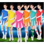 レディースチアガールコスプレ衣装 ダンス衣装 チアリーダー ユニフォーム ジャッズ ヒップホップダンスウェア 体操服 ワンピース 運動会 応援団ウェア