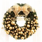 全品2枚で送料無料クリスマスリース/ドア飾りリボン/クリスマス飾り 大きいサイズ/玄関飾り おしゃれ 40cm  壁掛け 店舗用 法人用 christmas 装飾 3色 キレイ