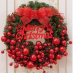 全品2枚で送料無料クリスマスリース/ドア飾りリボン/クリスマス飾り 大きいサイズ/玄関飾りおしゃれ60cm  壁掛け 店舗用 法人用 christmas 装飾 3色 キレイ
