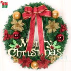全品2枚で送料無料 クラシックchristmasクリスマスリース玄関飾り ドア飾りリボン クリスマス飾り  おしゃれ 50cm  壁掛け 店舗用 法人用  装飾 キレイ
