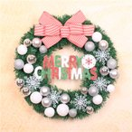 全品2枚で送料無料 christmasクリスマスリース玄関飾り ドア飾りリボン クリスマス飾り  おしゃれ 30cm  壁掛け 店舗用 法人用  装飾 玄関や壁がおしゃれに