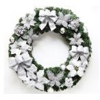 全品2枚で送料無料 蝶付き christmasクリスマスリース玄関飾り/ドア飾り3色/クリスマス飾り/おしゃれ60cm  壁掛け 店舗用 法人用 /装飾 玄関や壁がおしゃれに