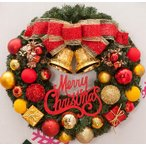 全品2枚で送料無料 christmasクリスマスリース玄関飾り ドア飾りリボン クリスマス飾り  おしゃれ50cm  壁掛け 店舗用 法人用  装飾 玄関や壁がおしゃれに