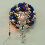 2枚で送料無料 christmasクリスマスリース玄関飾り/ LED 電球付き 充電ドア飾りクリスマス飾り/おしゃれ60cm/壁掛け/店舗用/法人用/装飾 玄関や壁がおしゃれに
