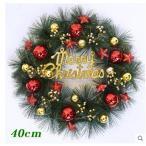 全品2枚で送料無料christmasクリスマスリース ドア飾り クリスマス飾り 玄関飾り おしゃれ 40cm  壁掛け 店舗用 法人用 christmas 装飾 2色キレイ