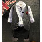 Yahoo!洋服屋お買い得!子供服 キッズ男の子フォーマルスーツ上下セット ベスト+パンツ2点セットアップ90-140CM結婚式 発表式 ドット水玉柄