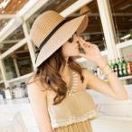 麦わら帽子  春夏新作 つば広帽子 帽子 日焼け ハット UVカット つば広帽  レディース  女優帽 天然素材のシンプルな中折れハット  日除け