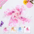 スカーフ 花柄 牡丹 レディース ファッション 薄手 シフォン スカーフ 70cm×70cm おしゃれ 送料無料