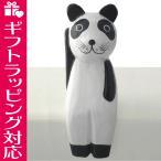パンダ 置物 木彫り お座り招きパンダ 縁起物 招福 ギフト 記念品 引越し祝い アジア雑貨