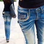 ロリータ ジーンズ LOLITA JEANS 通販 lolita jeans サイズ◆lo-1109 ボトム デニム ブーツカット 刺繍 ジーンズ 美脚 レディース【10P05Dec15】