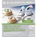 中国移動香港 4G/3G 香港/中国プリペイドSIM $120