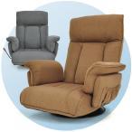 レバー式無段階リクライニング回転座椅子