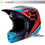 【FOX】V4レースヘルメット 《レッド》 MIPS搭載モデル フォックス
