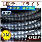 ショッピングLED LEDテープライト 調光可能 100V 2M 昼光色 間接照明 棚照明 内装照明 インテリア 明るい 二列式 CY-TPDC2M