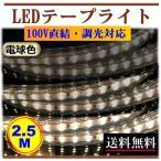 ショッピングLED LEDテープライト 調光可能 100V 2.5M 250cm 電球色 間接照明 棚下照明 店舗 住宅 明るい 二列式 CY-TPDW2HM