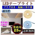 ショッピングLED LEDテープライト コンセントプラグ付き AC100V 業務用 業者 25M 配線工事不要 簡単便利 昼光色 間接照明 棚照明 CY-TPLC25M