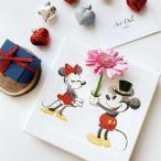 ディズニー 花瓶 アート ミッキー&ミニー 花瓶アート
