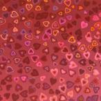 ホログラムシート ハート (濃いピンク)【ホログラムシール】