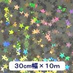 ホログラムシート リトルスター(シルバー) 30cm×10m