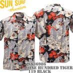 SUN SURF(サンサーフ)アロハシャツ HAWAIIAN SHIRT『SPECIAL EDITION / ONE HUNDRED TIGER』SS36986-119 Black