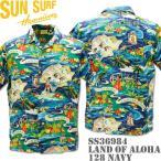 SUN SURF(サンサーフ)アロハシャツ HAWAIIAN SHIRT『SPECIAL EDITION / LAND OF ALOHA』SS36984-128 Navy