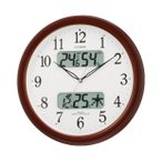 4FYA01-006 ネムリーナカレンダーM01 CITIZEN シチズン 電波掛時計 デジタル温湿度計・カレンダー付 クロック