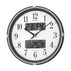4FYA07SR06 リズム時計 フィットウェーブリブ 温度湿度計付電波掛時計