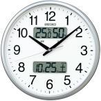 Yahoo!生活家電ディープライスお取り寄せ KX235S SEIKO セイコー カレンダー、温度・湿度表示つき電波掛時計 電波掛時計