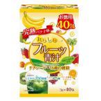 ユーワ おいしいフルーツ青汁 チアシード&16種の雑穀 完熟バナナ味 120g(3g×40包) 4427国産 お徳用 ばなな
