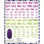 写ネイル ネイルシール Sha-Nailmore Lettering Fonts(girl) MTAKE-002 宅配便 メーカー直送(ギフト対応不可)