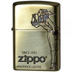 ZIPPO(ジッポー)ライター ガール 真鍮メッキ 2BI-WINDY 宅配便 メーカー直送(ギフト対応不可)