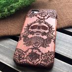 超激安 9H強化ガラス付き「ローズ頭蓋骨」高品質iPhone6 iphone6 plus iphone6S ケース人気木彫りiphone6S plus木製 ハードケース アイホン高級素材
