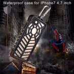 SpiderMan完全防水ケース iphone7  iphone7plus ケース 新登場スパイダーマン個性的 ストラップ人気Waterproof IP-68防水耐衝撃水没最強スーパーカバー