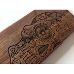 「頭蓋骨」高品質オリジナルiPhone5 iphone5s iphoneSE ケース人気木彫り木製ケース ハード アイホンSE高級素材