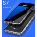 Galaxy S7 edge ケース 全面ガラスフィルム+LUPHIEアルミバンパー+レザー背面(3点セット)S7エッジ 合金フレーム曲面全面タイプ人気 SC-02H SCV33