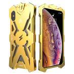 雷の神 iPhone Xs iPhone XR iPhone Xs Max ケース  かっこいいメタル金属 アルミバンパーカバーストラップ付き アイホンXS耐衝撃頑丈カバー