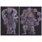 和の心 仏像コレクション5 風神像&雷神像 2種セット エポック社 ガチャポン ガシャポン 歴史 彫刻 デスクトップ フィギュア