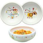 子供食器 2柄セット どうぶつサーカス すくい易いボウル [ 径13.8cm 約450ml / 2柄 ライオン&ゾウ ] 子ども用食器 お子