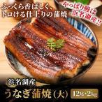 静岡県産うなぎ蒲焼(大)2kgセット[155〜185g×12尾 無地袋+化粧箱なし] 冷凍 ウナギ 鰻 #元気いただきますプロジェクト販売価格助成商品
