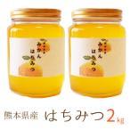 九州熊本産 濃熟蜂蜜(はちみつ) 2kg (1kg x2) 非加熱 ハチミツ/国産純粋蜂蜜/ミカン蜜/容器瓶入り/スイーツ