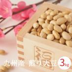 煎り大豆 九州産 3kg (1kgx3袋) むらゆたか 国産大豆