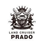 プラド 150 中期 ステッカー エンブレム LAND CRUISER PRADO カッティングステッカー 大判タイプ 艶消し黒