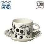 アラビア ARABIA ブラックパラティッシ コーヒーカップ&ソーサー 北欧食器
